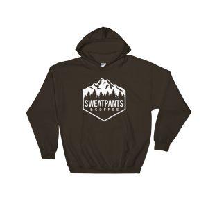 Sweatpants & Coffee Adventure Hoodie, White Design