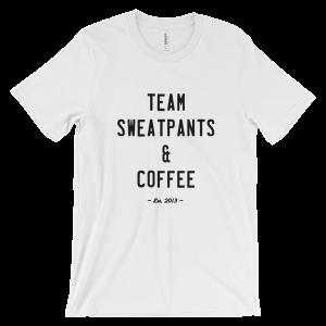 Team Sweatpants & Coffee Tee, Black Design Unisex