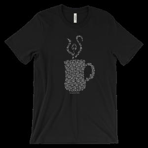 Sweatpants & Coffee Mandala Mug Tee, Black Design Unisex