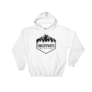 Sweatpants & Coffee Adventure Hoodie, black design