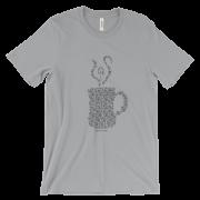 Sweatpants & Coffee Mandala Mug Tee, White Design Unisex