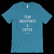 Team Sweatpants & Coffee Tee, White Design Unisex