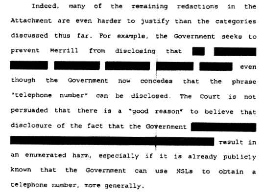 Photo 3. S&C Freedom of Information – redacted