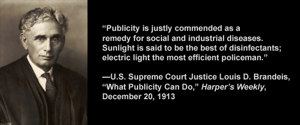 Photo 4. S&C Freedom of Information – Justice Brandeis