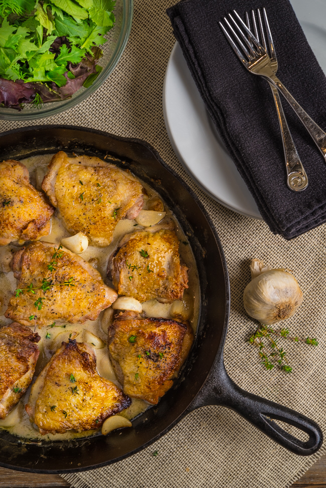 7. Chicken with 40 Cloves of Garlic by Southern Boy Dishes