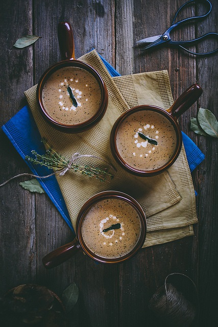 9. Roasted Garlic and Marrow Bone Soup with Crispy Sage by Adventures in Cooking