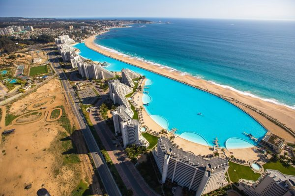 this is the second largest swimming pool in the world imagine over a kilometer of pristine salt water its a seawater pool stretched in front of - World S Most Amazing Swimming Pools