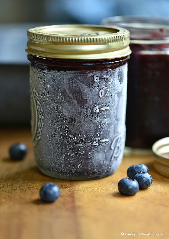 Blueberry Freezer Jam by She Wears Many Hats