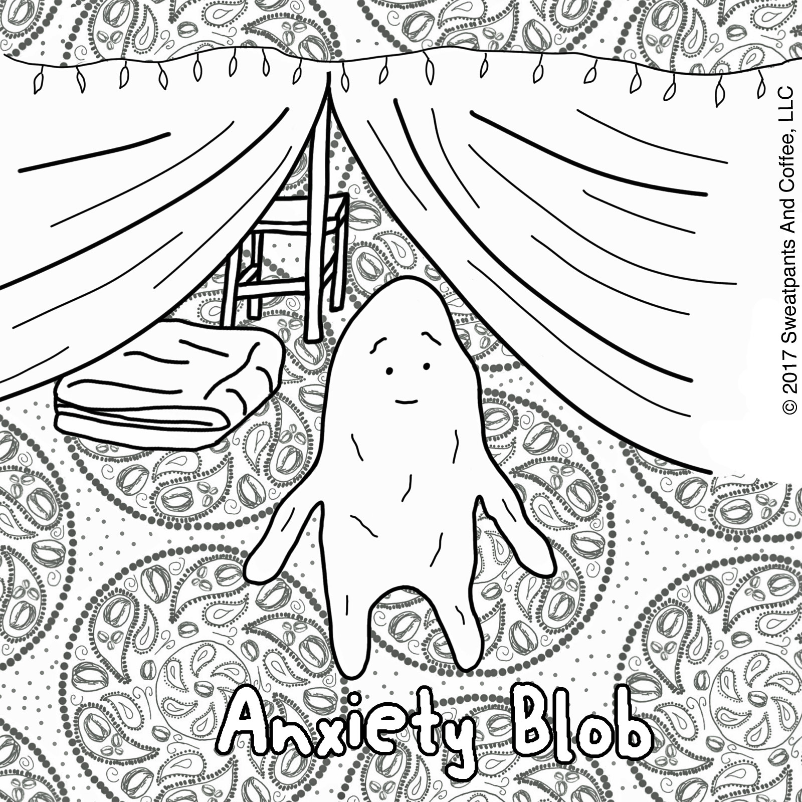 Anxiety Blob Coloring Page Let 39 s Build a Blanket Fort