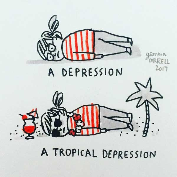 Gemma Correll depression vs. tropical depression
