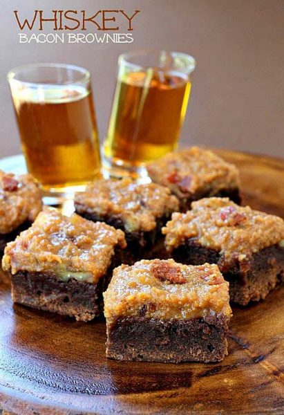 Whiskey Bacon Brownies by Mantitlement
