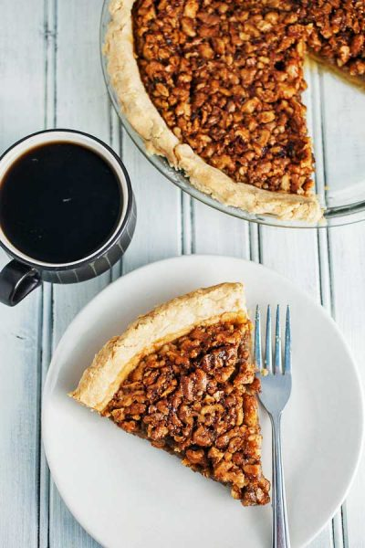 Maple Bourbon Walnut pie recipe
