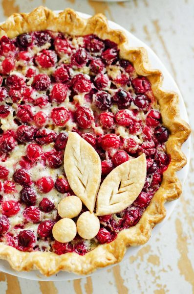 Cranberry Orange Custard pie recipe
