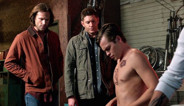 Sweatpants tv supernatural season13 episode 2 the for Dean and sams tattoo