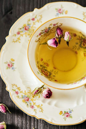 Fine china tea cup, floral
