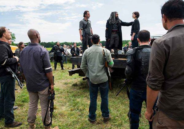 The Walking Dead Season 8 premiere, Rick, Ezekiel, Maggie