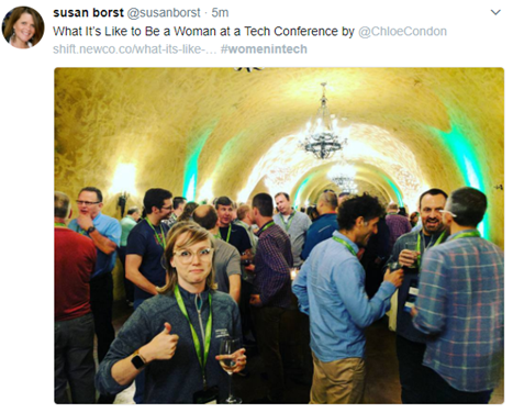 What It's like to be a woman at a tech conference