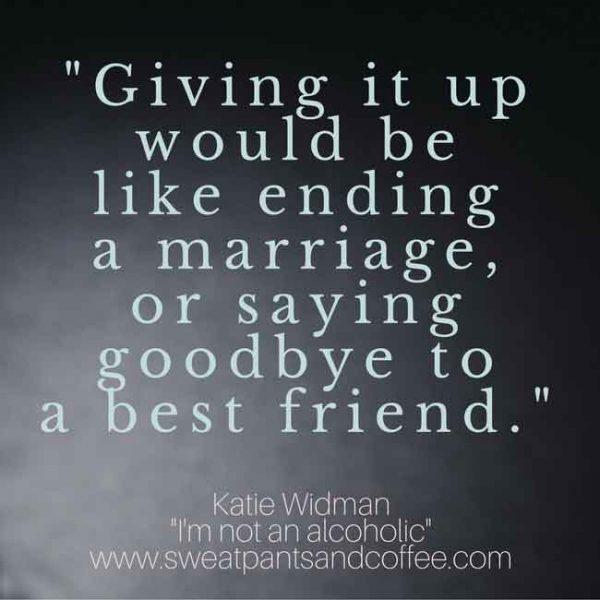 Alcholism recovery AA Alcoholic Katie Widman