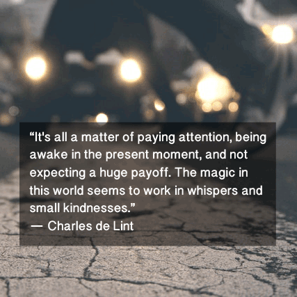 Charles de Lint kindness quote