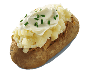 Wend'ys Sour Cream & Chive Potato healthy fast food choices