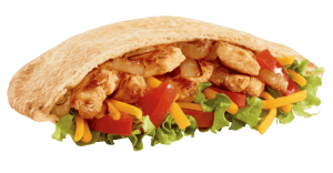 Jack in the Box Chicken Fajita Pita healthy fast food choices