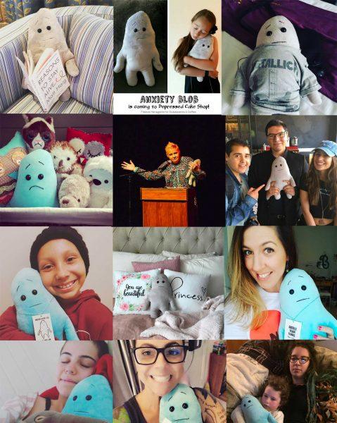 Anxiety Blob instagram collage