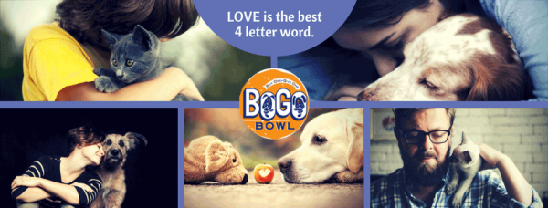 BOGO bowl charitable giving for pets in need