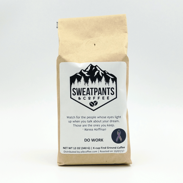 Sweatpants & Coffee PLB coffee with a cause