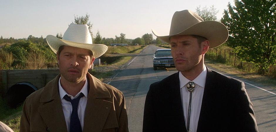 Image result for dean and castiel season 13 cowboys