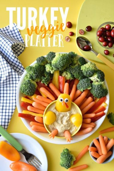 Fork & Beans Ultimate Turkey Veggie Platter Thanksgiving sides