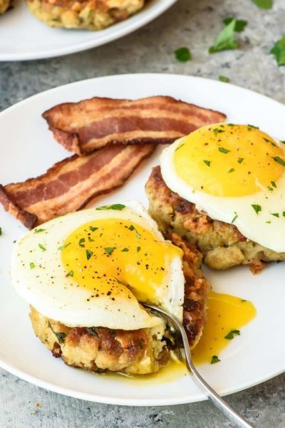 Cheesy Breakfast Stuffing Cakes by Well Plated