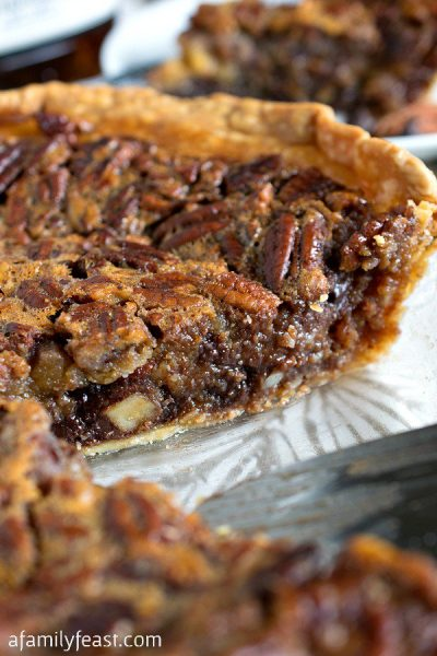Chocolate Bourbon Pecan Pie by A Family Feast