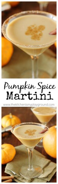 Pumpkin Spice Martini from The Kitchen is My Playground