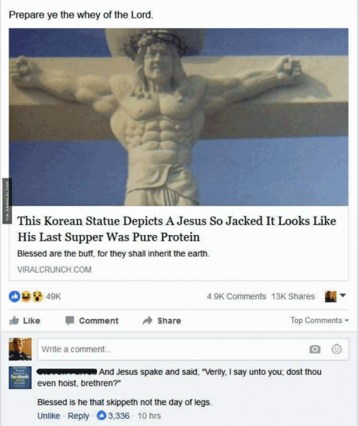Ripped abs Jesus