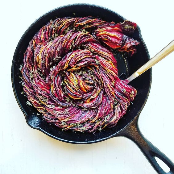 Roasted Balsamic Beets + Rutabaga by Olives for Dinner