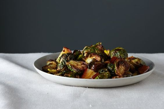 Roasted Brussels Sprouts with Pears and Pistachios by Food 52