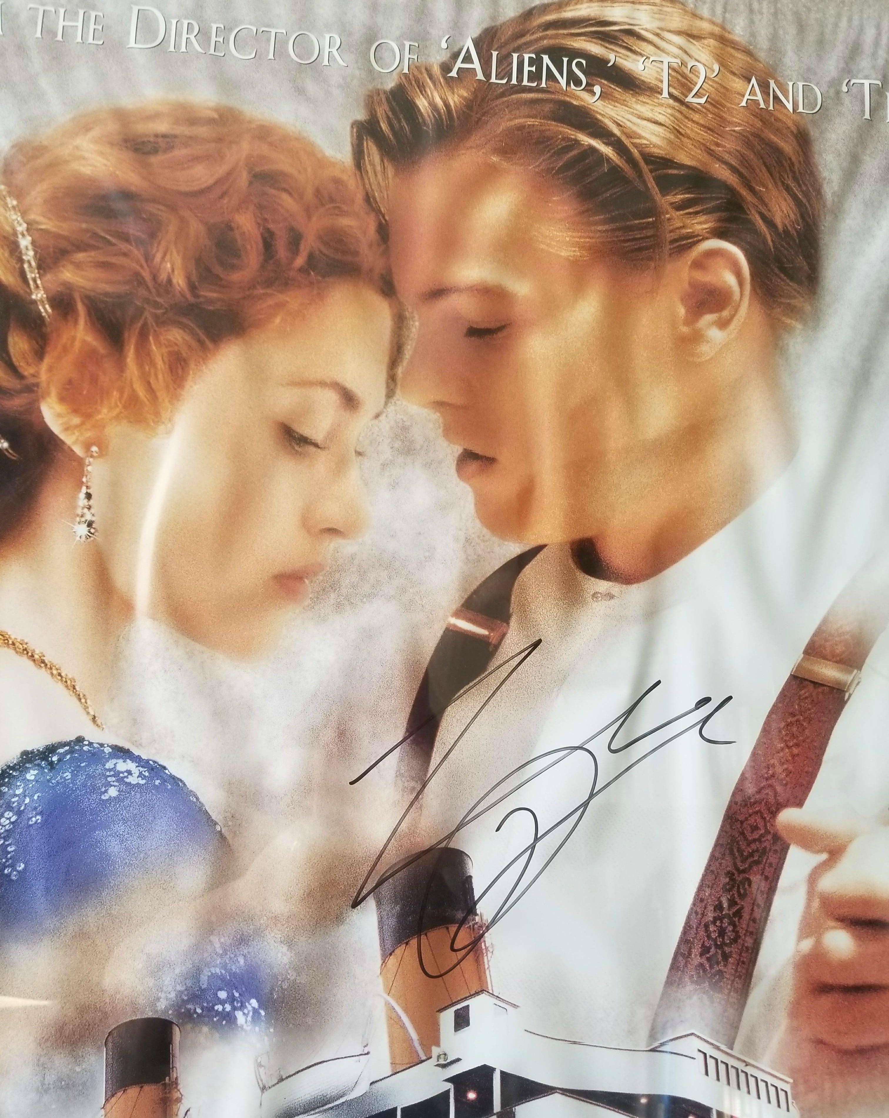 Titanic Poster Leonardo DiCaprio's Signature