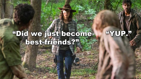 Walking Dead Season 8 Episode 6 Chandler Riggs Carl Siddiq