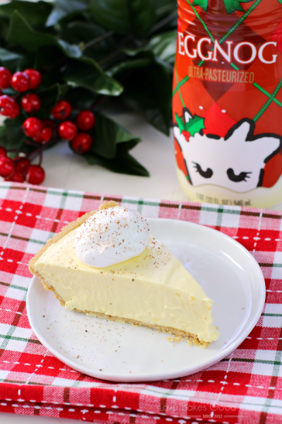 No Bake Eggnog Pie | Love Bakes Good Cakes