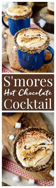 S'mores Hot Chocolate Cocktail from Sugar & Soul