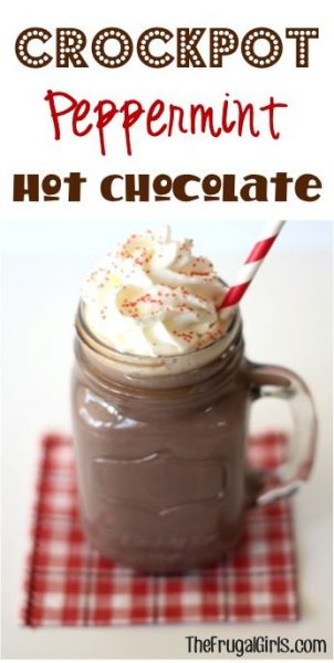 The Frugal GIrls Peppermint Hot Chocolate