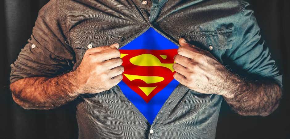 man superhero superman shirt