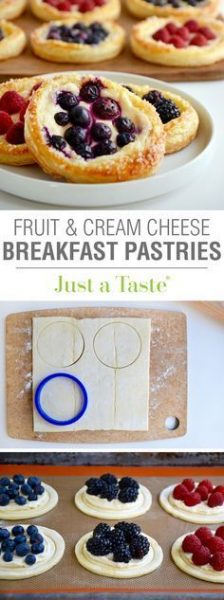 Fruit and Cream Cheese Pastries