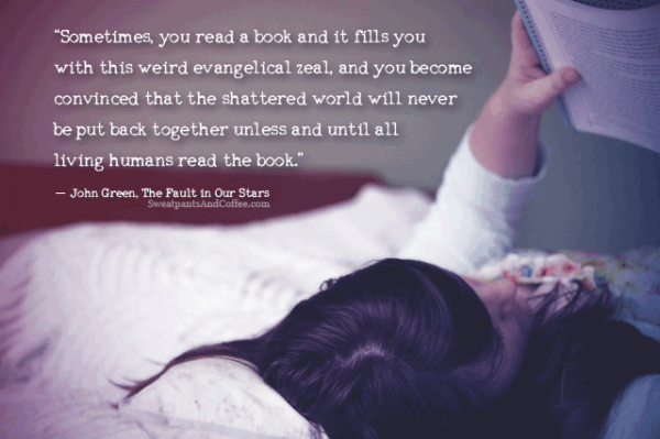 John Green Fault in Our Stars book reading quote