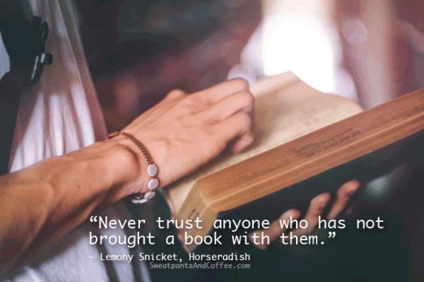 Lemony Snicket Horseradish book reading quote