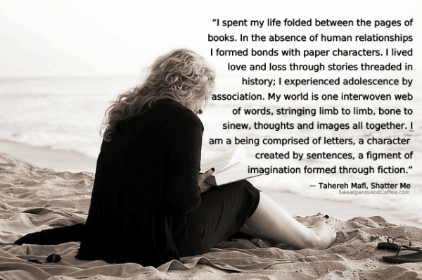 Tahereh Mafi Shatter Me books reading quote