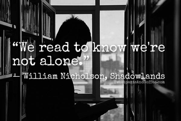 William Nicholson Shadowlands reading quote
