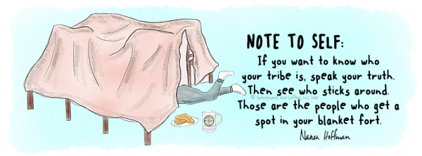 Facebook cover Who Gets a Spot In Your Blanket Fort