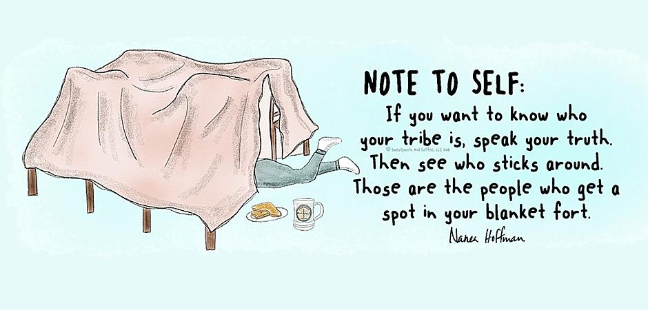 Note to Self Blankf Fort Tribe Sweatpants & Coffee Nanea Hoffman