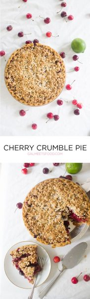 Cherry Crumble Pie | Gal Meets Food
